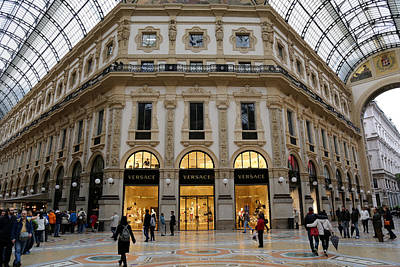 Versace Photograph - Milan Galleria 2 by Andrew Fare
