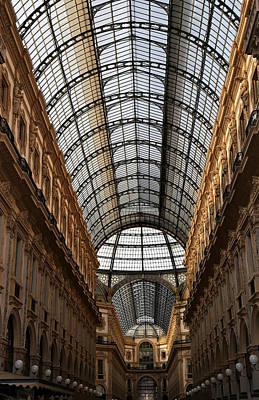 Photograph - Milan Galleria 5 by Andrew Fare