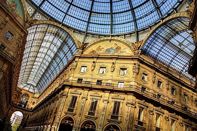 Northern Italy Photograph - Milan Galleria Vittorio Emanuele II  by Carol Japp