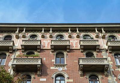 Photograph - Milan, Italy Building Facade by Alexandre Rotenberg