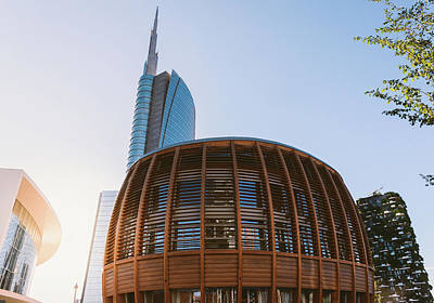 Photograph - Milan, Italy Financial District by Alexandre Rotenberg