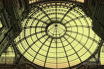 Photograph - Milan Italy Galleria In Black And White by Gregory Dyer