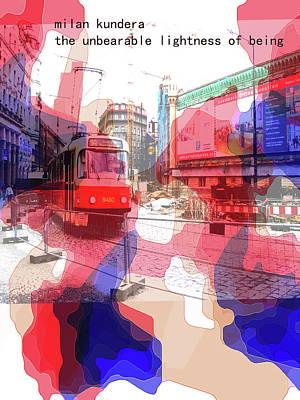 Prague Castle Mixed Media - Milan Kundera Poster  by Paul Sutcliffe