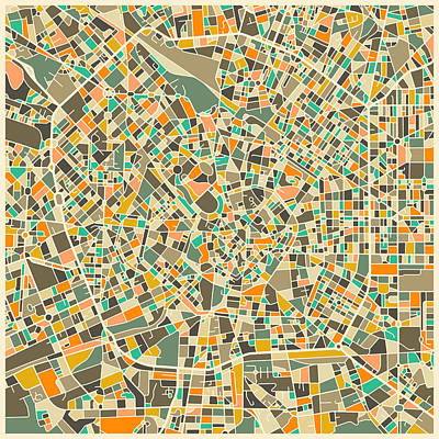 Italy Map Digital Art - Milan Map by Jazzberry Blue