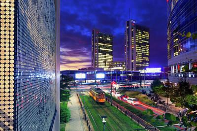 Digital Art - Milan Night View by Alfio Finocchiaro