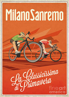 Digital Art - Milan San Remo by Sassan Filsoof