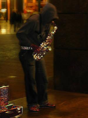 Photograph - Milan Street Musician by Ginger Wakem