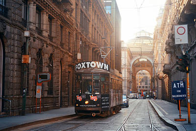 Photograph - Milan Street Tram by Songquan Deng