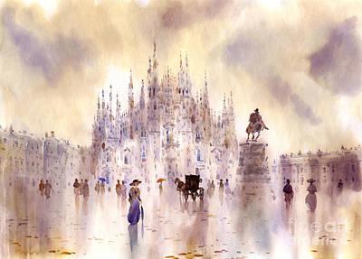Milan Wall Art - Painting - Milan by Svetlana and Sabir Gadghievs