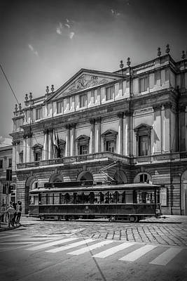 Old Milano Photograph - Milan Teatro Alla Scala by Melanie Viola