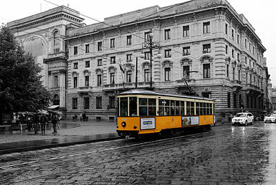 Photograph - Milan Trolley 2c by Andrew Fare