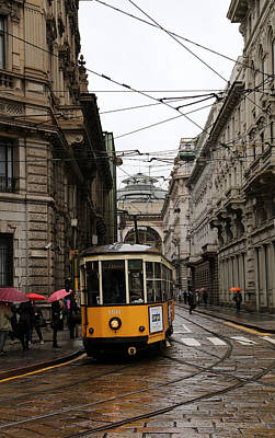 Photograph - Milan Trolley 3 by Andrew Fare