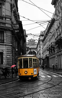 Photograph - Milan Trolley 3c by Andrew Fare