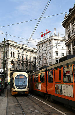 Photograph - Milan Trolley 4 by Andrew Fare