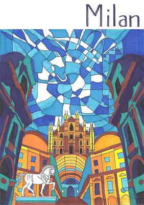 Milan Art Print by Ushma Sargeant