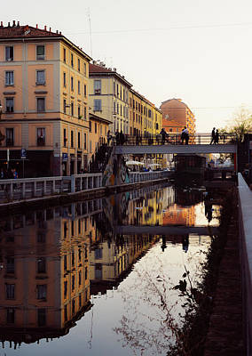 Photograph - Milanese Canal Reflection by Alexandre Rotenberg