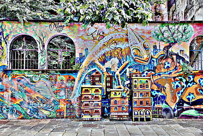 Photograph - Milanese Graffiti by Valentino Visentini