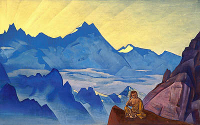 Metaphor Painting - Milarepa, The One Who Harkened by Nicholas Roerich