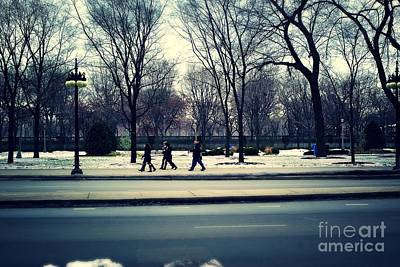 Frank J Casella Royalty-Free and Rights-Managed Images - Mild Winter Chicago by Frank J Casella