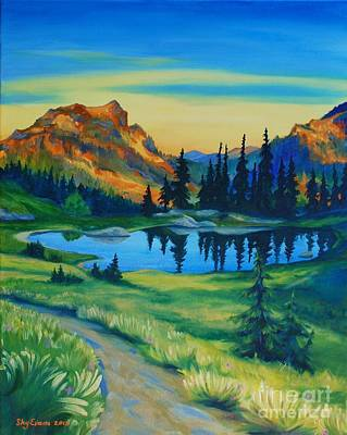 Hiker Painting - Mile 2330 On The Pct by Sky Evans