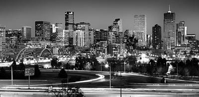 Black And White Photograph - Mile High Skyline by Kevin Munro