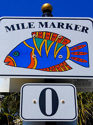 Photograph - Mile Marker O by David Lee Thompson
