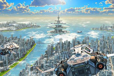 Digital Art - Milenias Cityscape by Patrick Turner