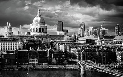 Milennium Bridge And St. Pauls, London Art Print