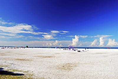 Photograph - Miles And Miles Of White Sand by Gary Wonning