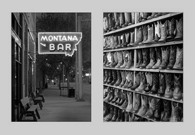 Photograph - Miles City Diptych by Leland D Howard