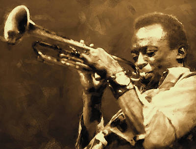 Painting - Miles Davis - 03 by Andrea Mazzocchetti