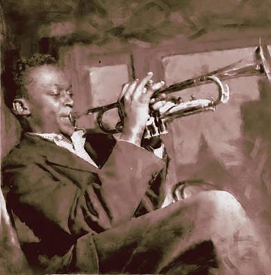 Painting - Miles Davis - 04 by Andrea Mazzocchetti