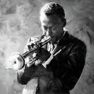 Painting - Miles Davis - 06 by Andrea Mazzocchetti