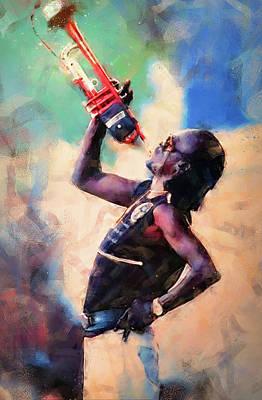 Painting - Miles Davis - 09 by Andrea Mazzocchetti