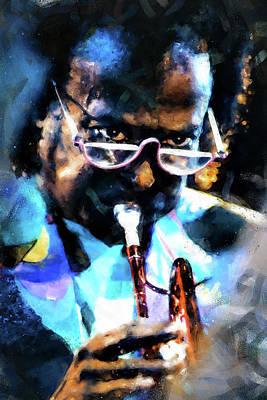 Painting - Miles Davis - 10 by Andrea Mazzocchetti