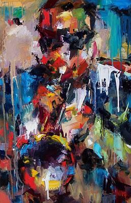 Painting - Miles Davis 2 by Debra Hurd