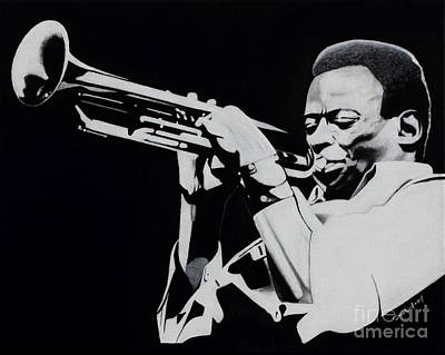 Eye Brows Painting - Miles Davis by Dan Lockaby