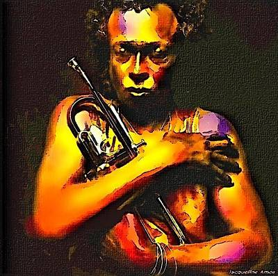 World Wide Web Painting - Miles Davis by Jacqueline Amos
