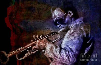 Painting - Miles Davis Jazz Legend 1969 by Ian Gledhill
