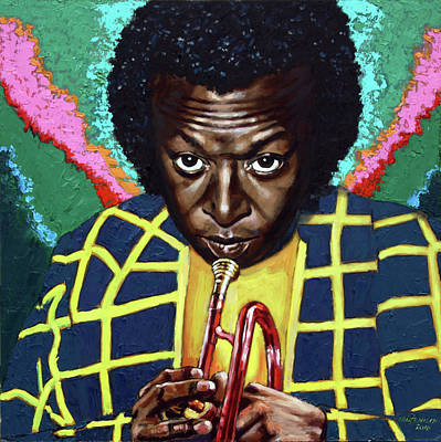 Painting - Miles Davis by John Lautermilch