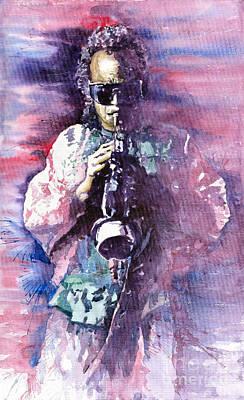 Miles Davis Painting - Miles Davis Meditation 2 by Yuriy  Shevchuk