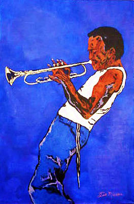 Music Themed Art Painting - Miles Davis-miles And Miles Away by Bill Manson