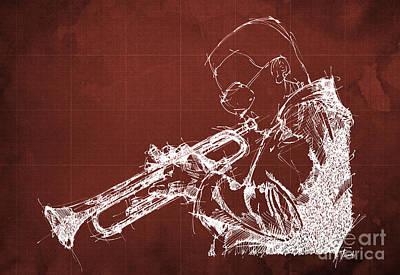 Trumpet Painting - Miles Davis by Pablo Franchi