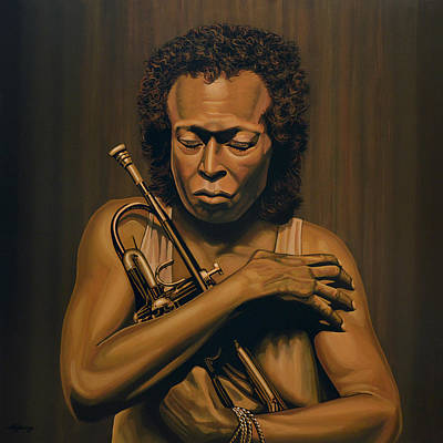 Icon Painting - Miles Davis Painting by Paul Meijering