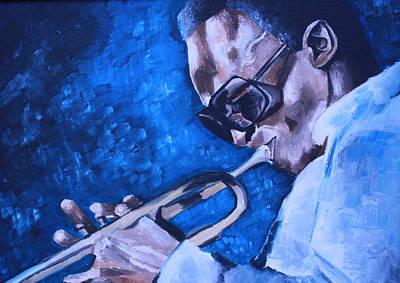 Miles Davis Oil Painting - Miles Davis Portrait by Mikayla Ziegler