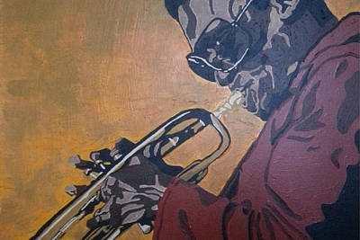 Art Print featuring the painting Miles Davis by Rachel Natalie Rawlins