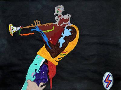 Music Paintings - Miles Davis by Stormm Bradshaw
