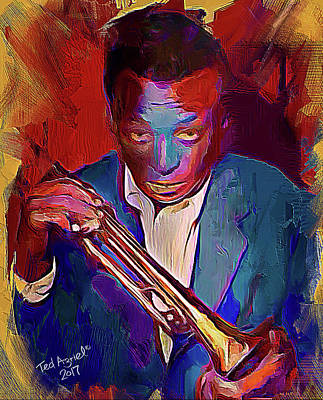Digital Art - Miles Davis by Ted Azriel