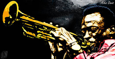 Trumpet Mixed Media - Miles Davis by The DigArtisT