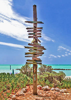 Photograph - Miles From Key West Greeting Card by Bob Slitzan